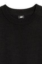 Fine-knit cotton jumper - Black - Men | H&M 3